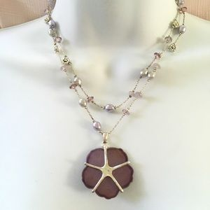 Jewelry - Silver Lavendar Freshwater Pearl Necklace